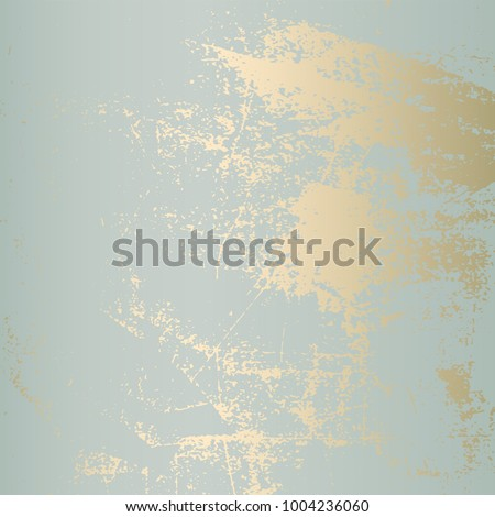 Abstract Grunge Patina effect Pastel  Gold RetroTexture. Trendy Chic Background made in Vector for your design