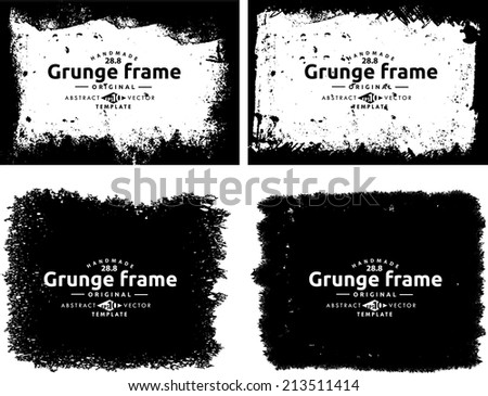 Abstract grunge photo frame. Background vector texture #213511414