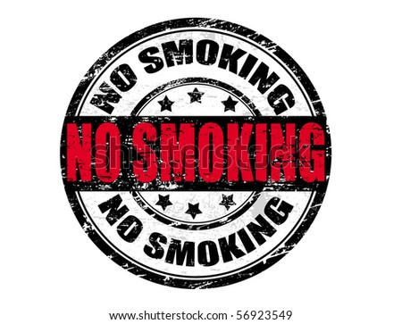 Abstract grunge rubber  stamp in vector format with the word no smoking
