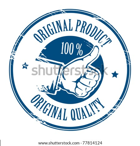 Abstract grunge rubber stamp with text original product written inside the stamp, vector illustration