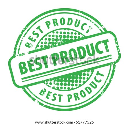 Abstract grunge rubber stamp with the word Best Product written inside the stamp, vector illustration