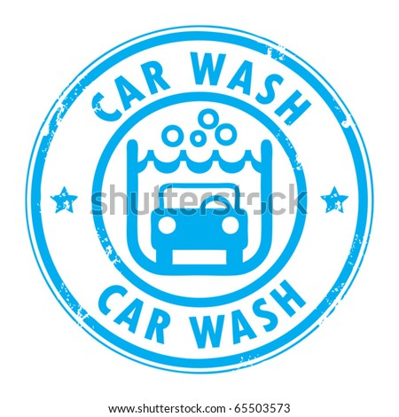 Abstract grunge rubber stamp with the words car wash written inside, vector illustration