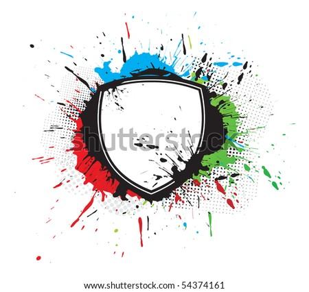 abstract grunge Shield designs background, vector illustration.