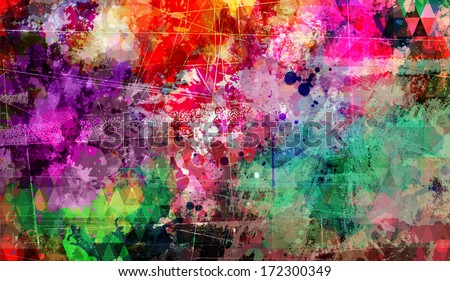 abstract grunge style painting
