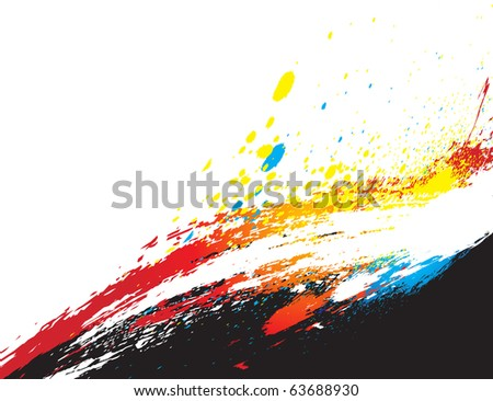 Abstract grunge texture with your test, vector illustration
