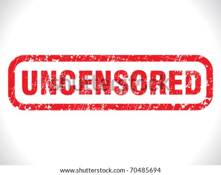 stock vector : abstract grunge uncensored tag vector illustration
