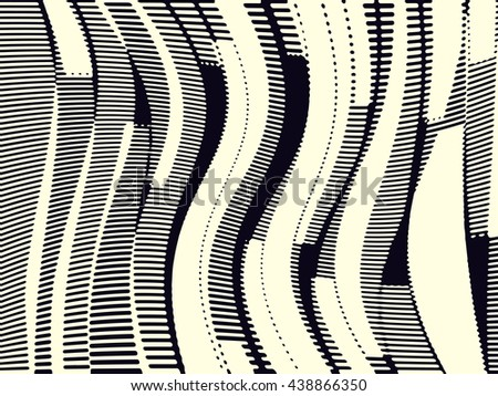 Abstract grunge vector background. Monochrome composition of irregular geometric overlapping elements.