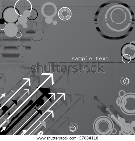 Abstract  grunge vector background with arrows
