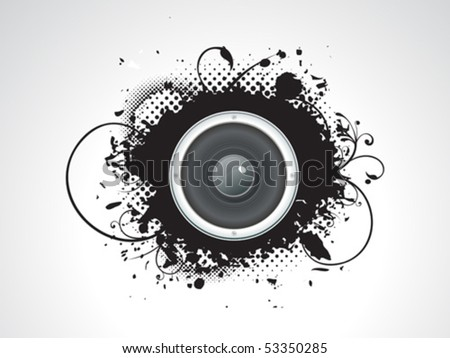 abstract grunge with sound vector illustration