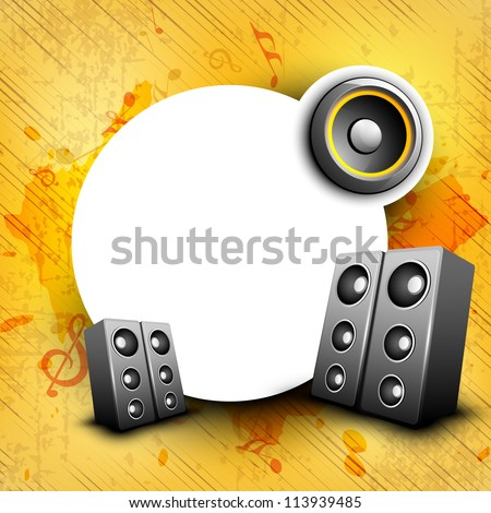 Abstract grungy speakers background with space. EPS 10.