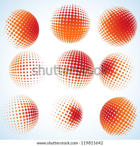 Abstract halftone circle design. And also includes EPS 8 vector