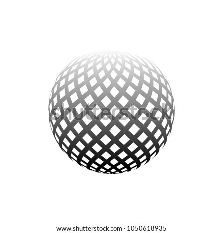 abstract halftone 3d sphere