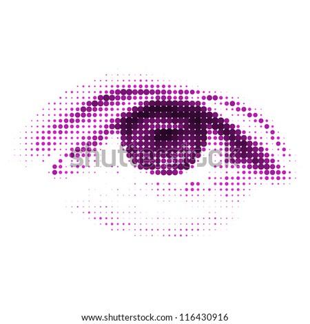 abstract halftone digital eye