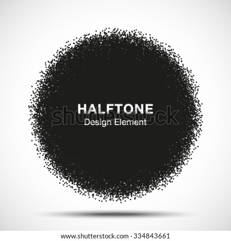 Abstract Halftone Dots Circle. vector illustration  #334843661