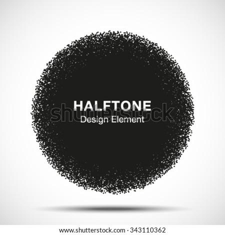 Abstract Halftone Dots Circle. Vector illustration  #343110362
