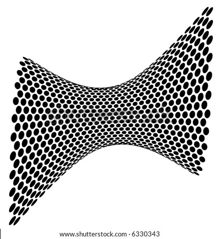 abstract halftone dots wave