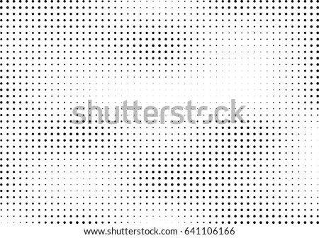 Abstract halftone dotted background. Monochrome pattern with dot and circles