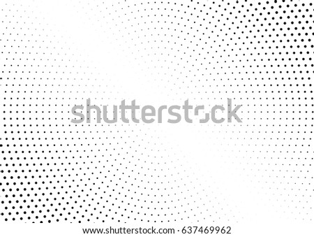Abstract halftone dotted background. Monochrome pattern with dot and circles.  Vector modern futuristic texture for posters, sites, business cards, postcards, interior design, labels and stickers.