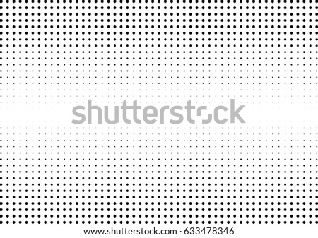 Abstract halftone dotted background. Monochrome pattern with hexagon.  Vector modern futuristic texture for posters, sites, business cards, postcards, labels and stickers. Design mock-up layout.