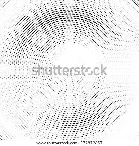 Abstract halftone dotted circle pattern. Vector illustration.