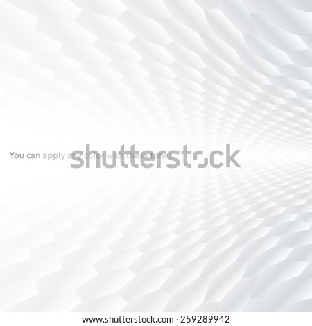 Abstract halftone perspective background with white and gray tones - Shutterstock ID 259289942