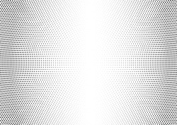 Abstract halftone wave dotted background. Halftone twisted grunge pattern, dot, circle.  Vector modern optical halftone pop art texture for poster, business card, cover, label mock-up, sticker layout