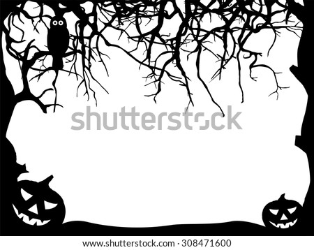 abstract halloween greeting
