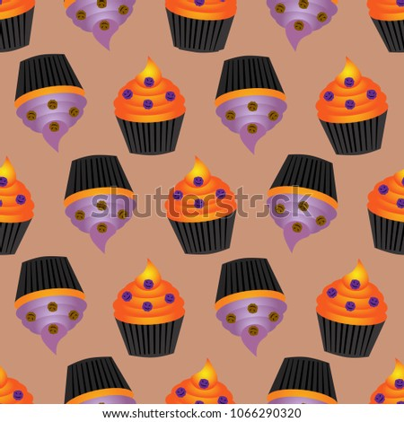 abstract halloween pattern for