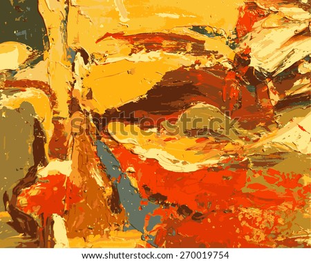 abstract hand draw oil painting