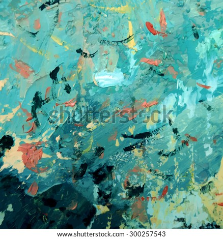 abstract hand draw oil painting composition, vector background