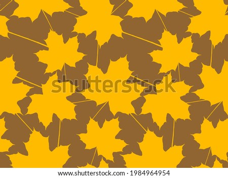abstract hand drawing maple