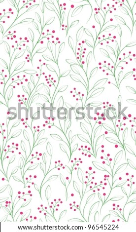 Abstract hand-drawing Seamless floral pattern, can be used for wallpaper, pattern fills, web page background, surface textures,vector  illustration