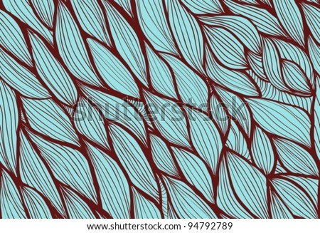 Abstract hand-drawn background, Seamless pattern with waves can be used for wallpaper, pattern fills, web page background, surface textures, vector