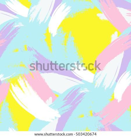 abstract hand drawn brush
