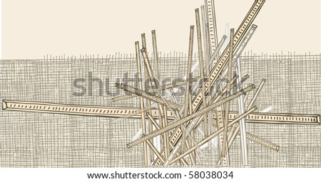 Abstract hand-drawn lines - stock vector