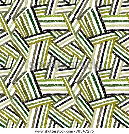 Abstract hand drawn lines seamless pattern, vector background.