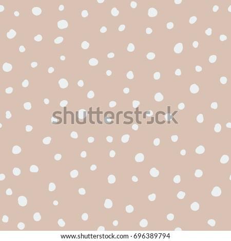Abstract hand drawn polka dot pattern
