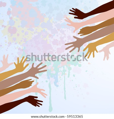 abstract hand illustration