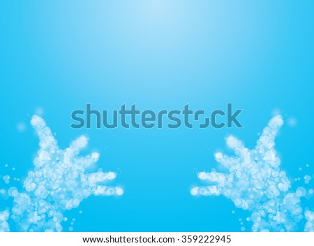 abstract hands of man praying