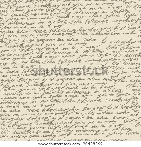 stock-vector-abstract-handwriting-on-old-vintage-paper-seamless-pattern-vector-eps