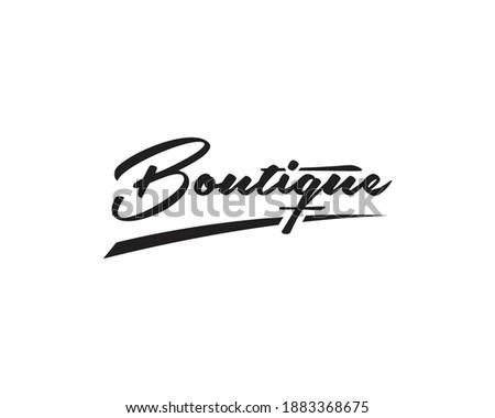 Abstract handwritten boutique text vector logo design, Boutique letter logo design Сток-фото ©