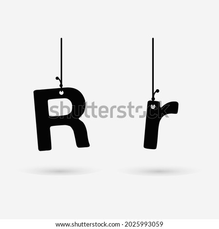Abstract Hanging Letter R Design Stock fotó ©