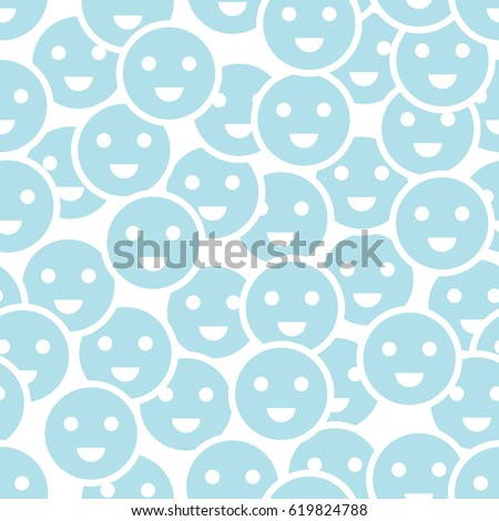 abstract happy smiley seamless