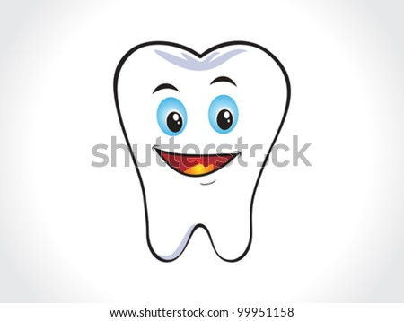 abstract happy tooth icon vector illustration