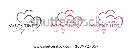 Abstract happy valentines day logo, happy valentines day , love vector logo design, pink color, red color, black color vector logo design, happy valentines day