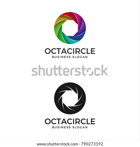 Abstract Harmony Circle Color Logo