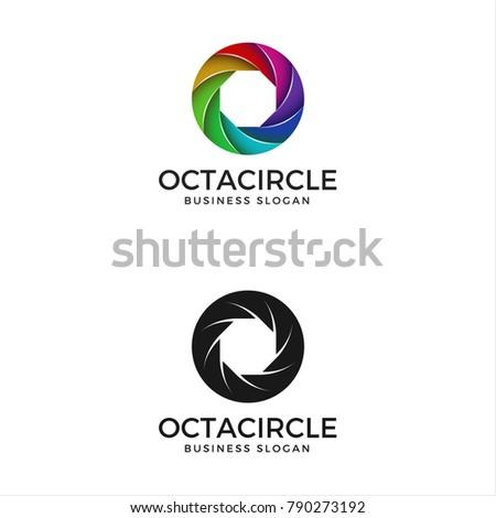 Abstract Harmony Circle Color Logo