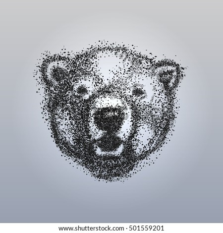 abstract head of the bear bear