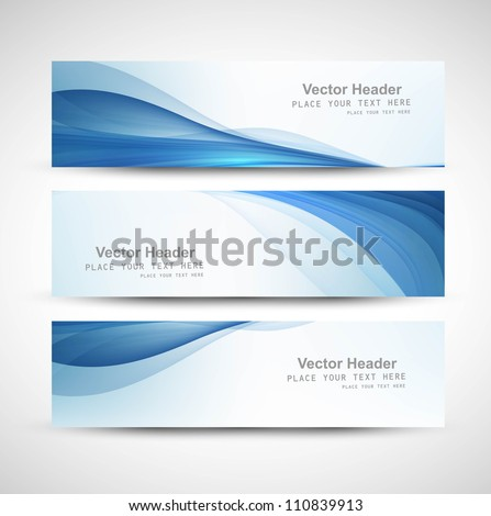 stock-vector-abstract-header-blue-wave-whit-vector-design