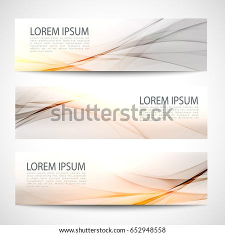 Abstract header orange wave white gray background vector design